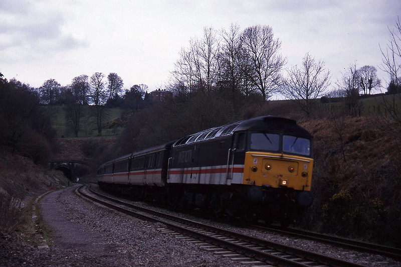 47806, 11.40 Plymouth-Liverpool Lime Street, Marlands, near Wellington, 21-3-95.