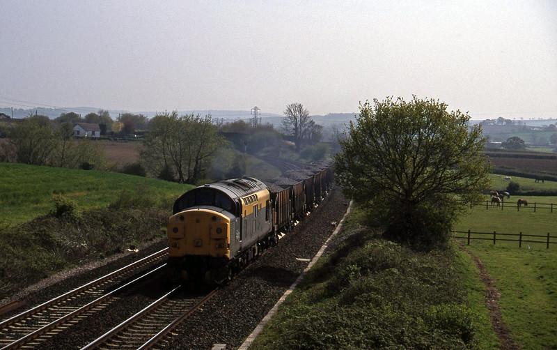 37035, up ballast, Willand, near Tiverton, 2-5-95.