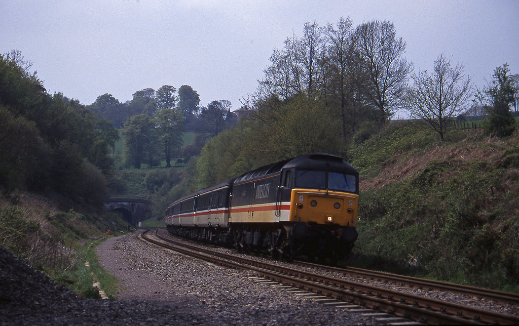 47825, 11.50 Plymouth-Liverpool Lime Street, Marlands, near Wellington, 2-5-95.