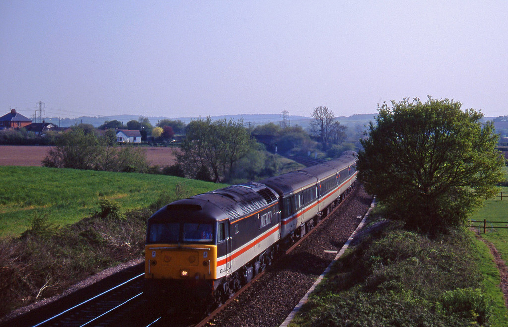 47849, 15.45 Plymouth-Derby, Willand, near Tiverton, 5-5-95.
