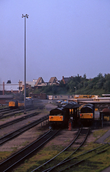 58050/58017,60100/60073/60010/37798, stabled, Leicester TMD, 23-5-95.