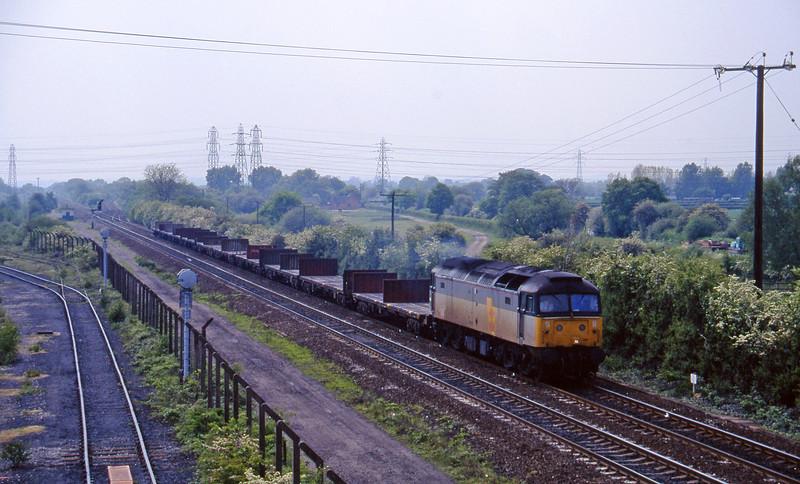47281, down steel empties, Stenson Junction, near Derby, 23-5-95.