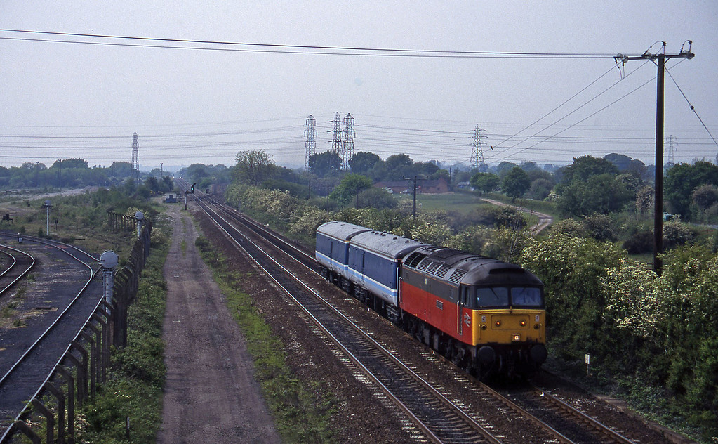 47575, Crewe-Derby stock move, Stenson Junction, near Derby, 23-5-95.