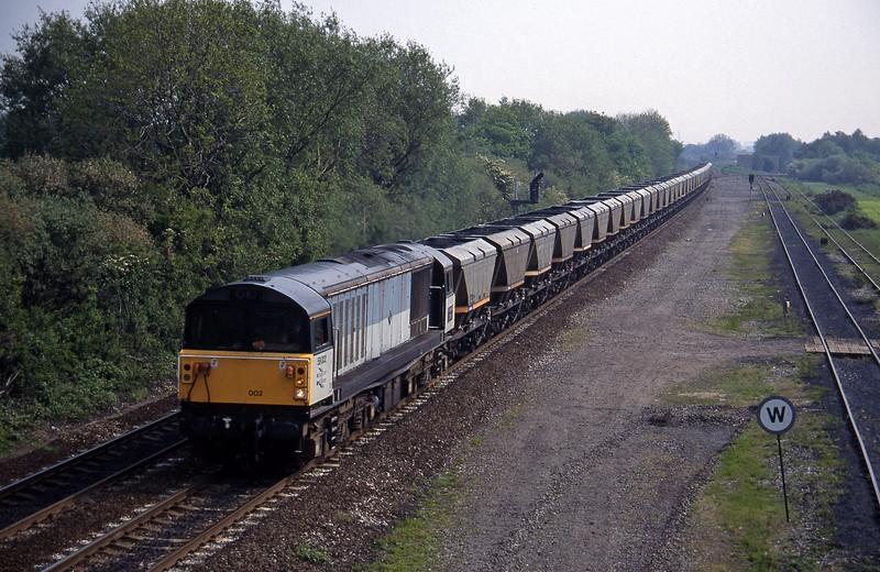 58002, up mgr, Stenson Junction, near Derby, 23-5-95.