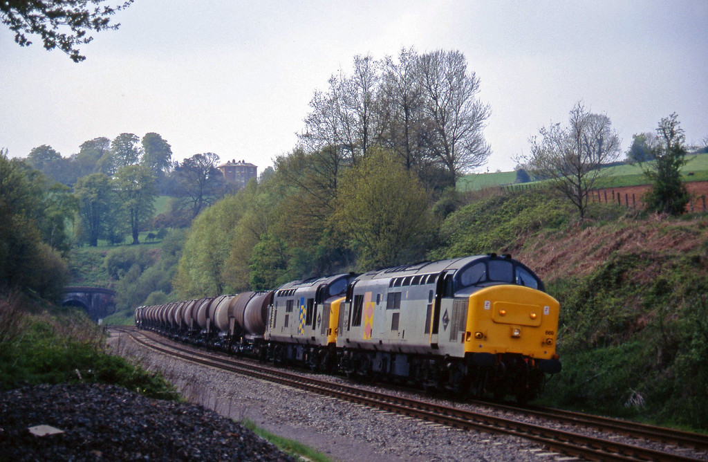 37669/37668, 09.40 Burngullow-Irvine, Marlands, near Wellington, 2-5-95.