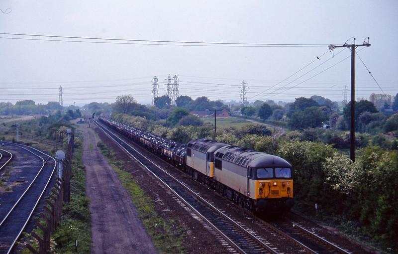 56022/56132, down steel, Stenson Junction, near Derby, 23-5-95.