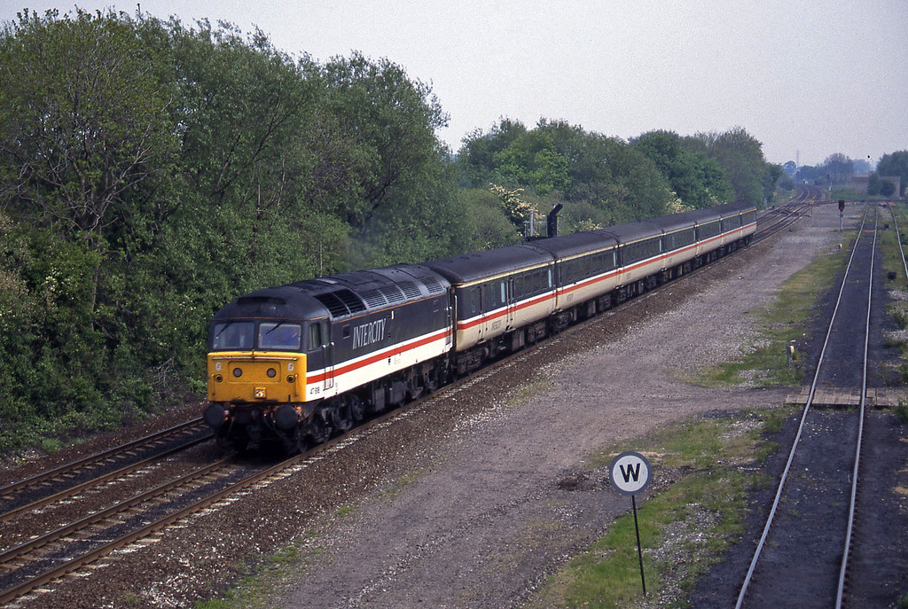47818, 09.43 York-Exeter St David's, Stenson Junction, near Derby, 23-5-95.