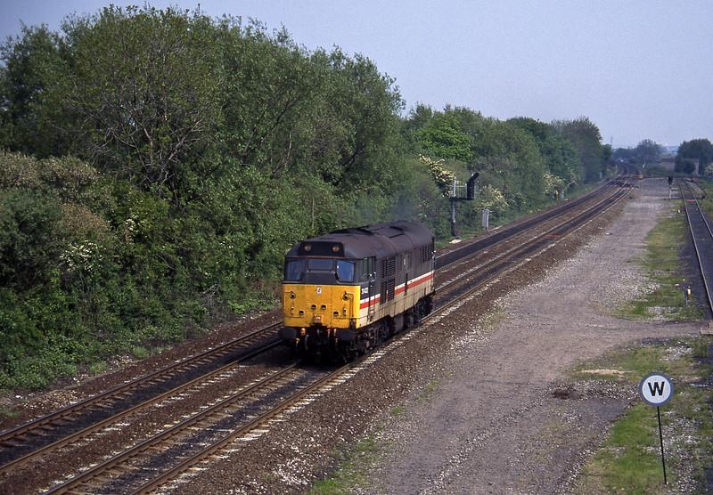 31422, up light, Stenson Junction, near Derby, 23-5-95.