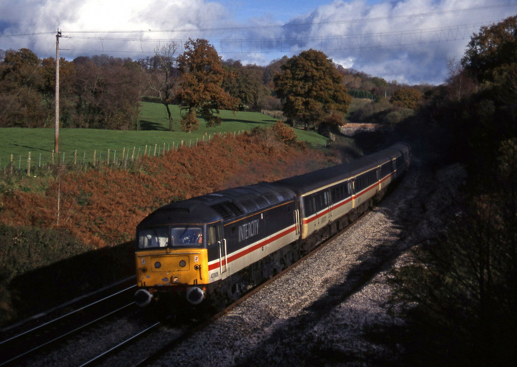 47806, 09.10 Liverpool Lime Street-Plymouth, Whiteball, 22-11-95.