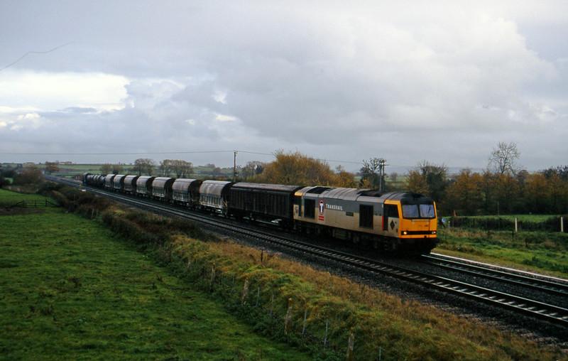 60081, 08.50 Bescot-St Blazey, Cogload, 25-11-95. First 60-hauled.