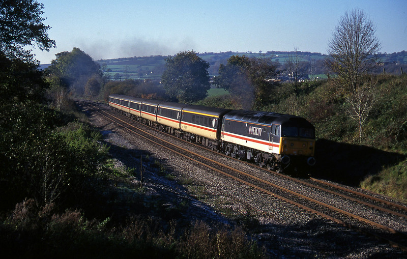 47806, 10.44 Plymouth-Manchester Piccadilly, Whiteball, 18-11-95.