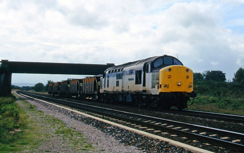 37703, up ballast, Cogload, 3-10-95,