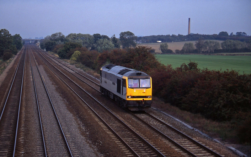 60088, up light, Cossington, near Leicester, 11-10-95.