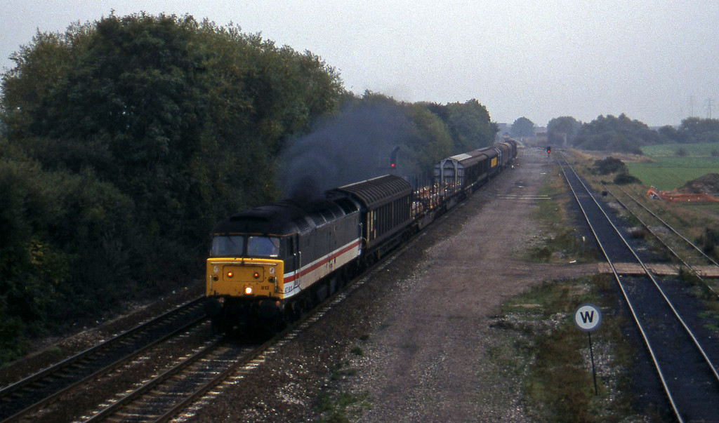 47813. north to south, Stenson Junction, near Derby, 11-10-95.