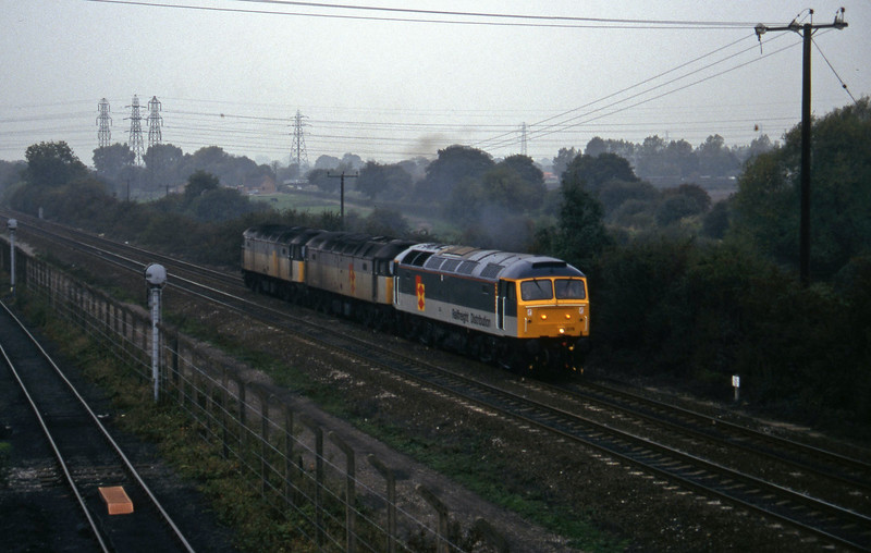 47079/47236/47281, south to north light, Stenson Junction, near Derby, 11-10-95.