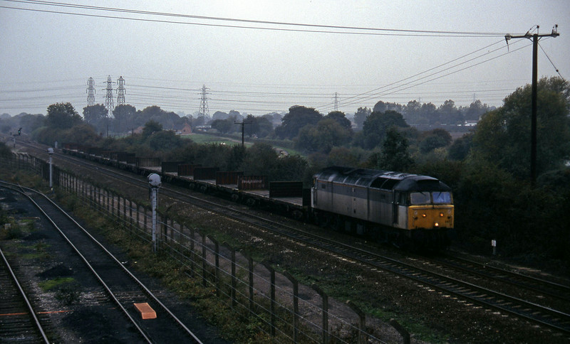 47347, northbound flats, Stenson Junction, near Derby, 11-10-95.