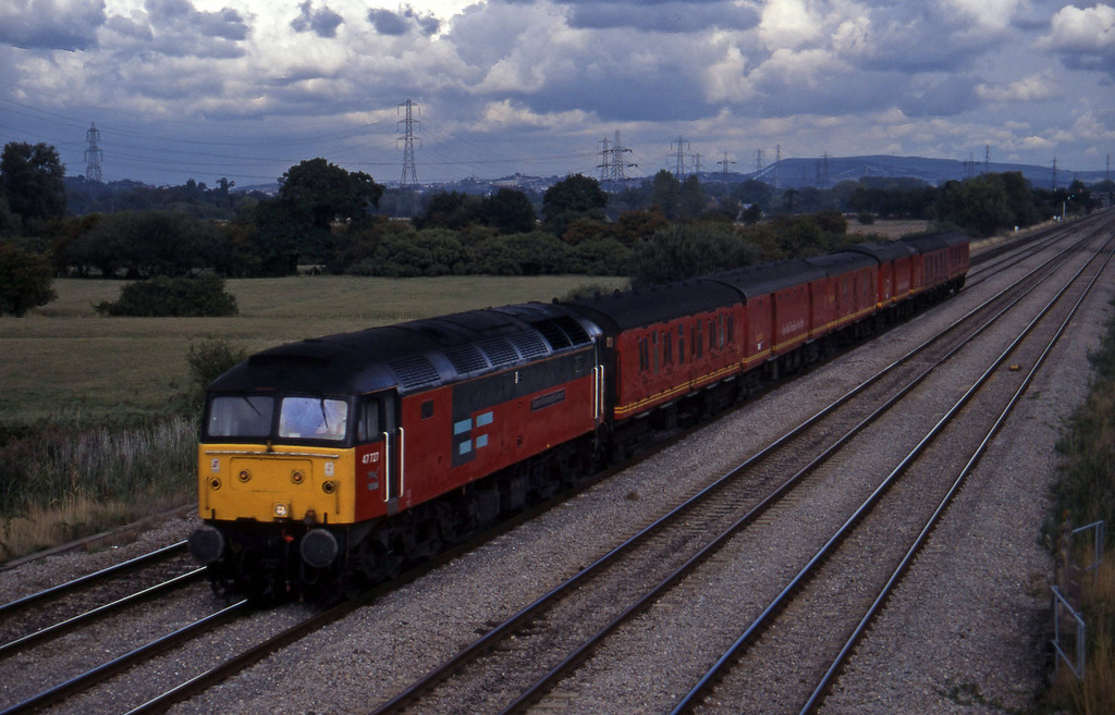 47727, 14.25 Bristol Temple Meads-Cardiff Central, Coedkernow, near Newport, 12-9-95.