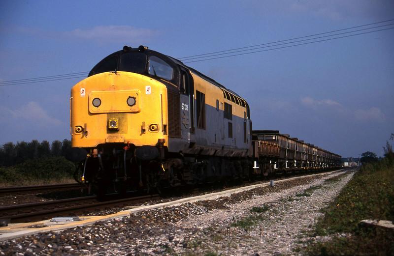 37133, down ballast empties, Cogload, 20-9-95.