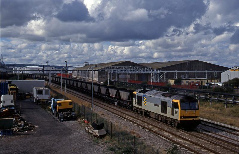 60033, Avonmouth Bulk Handling Terminal-Aberthaw Power Station, Hallen Marsh, Avonmouth, 12-9-95.