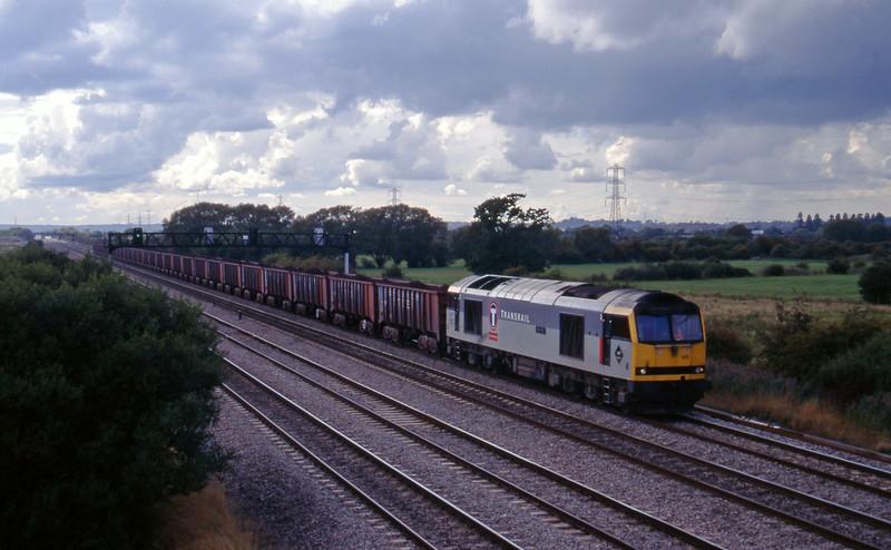 60015, Port Talbot-Llanwern, Coedkernow, near Newport, 12-9-95.