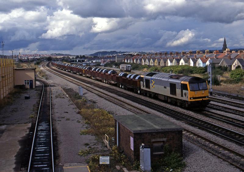 60093, up steel, Cardiff Canton, 12-9-95.
