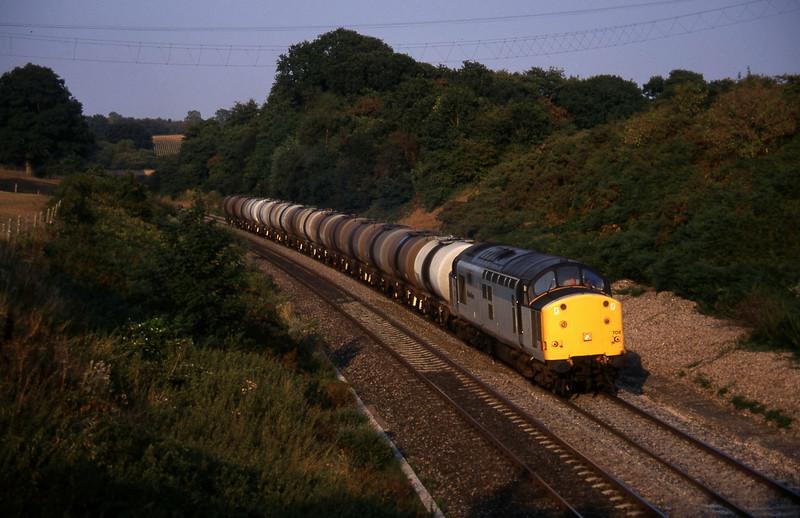 37709, 13.34 Fawley-Plymouth Tavistock Junction Yard, Whiteball, 21-9-95.