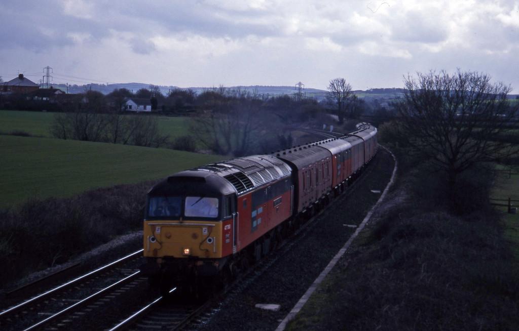 47788, 13.53 Plymouth-Crewe, Willand, near Tiuverton, 10-4-96.