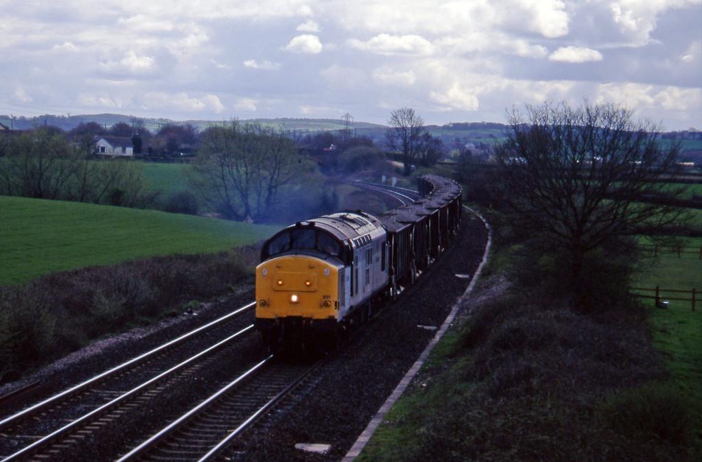 37891, up ballast, Willand, near Tiverton, 24-4-96