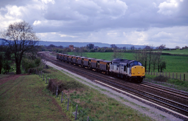 37703, up ballast, Cogload, 24-4-96.