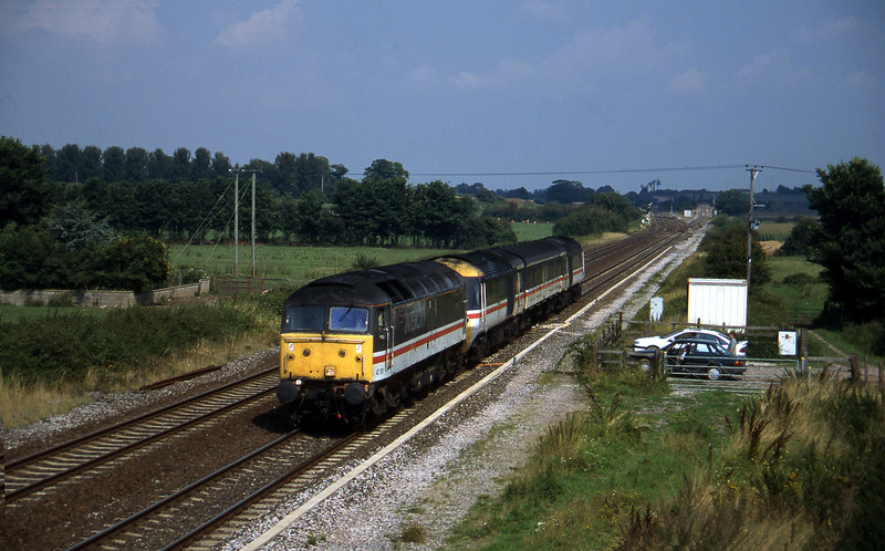 47811, down HST power cars, Cogload, 28-8-96.