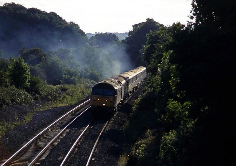 47854, 16.50 Plymouth-Sheffield, Whiteball, 30-8-96.