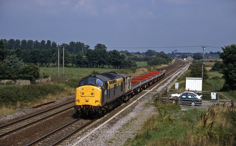 37146, down departmental from Bristol line, Cogload, 28-8-96.