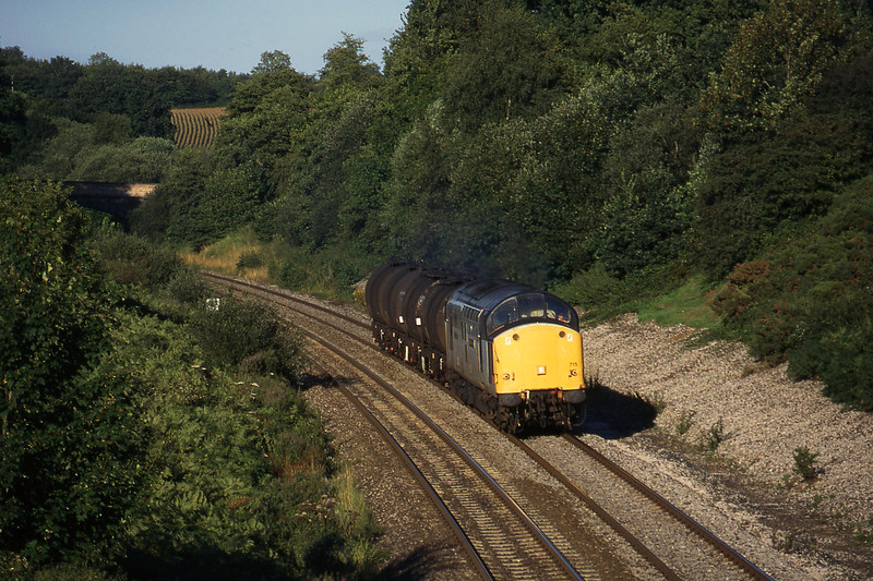 37715, 13.34 Fawley-Plymouth Tavistock Junction Yard, Whiteball, 30-8-96.