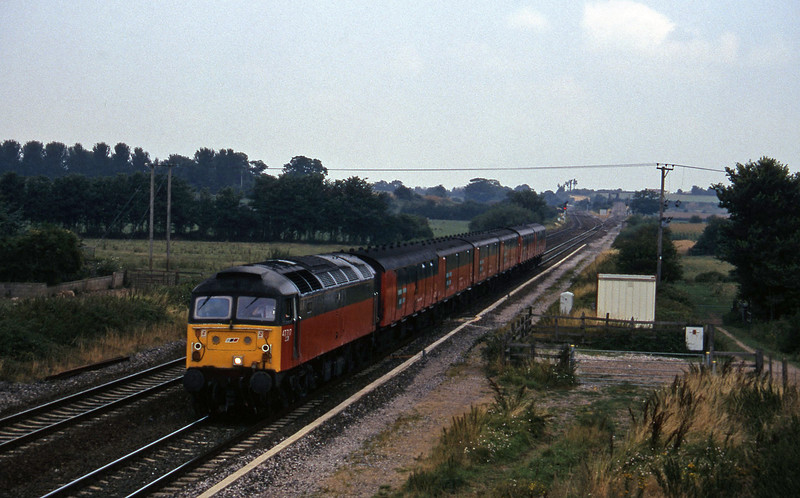 47717, 12.15 Bristol Temple Meads-Plymouth, Cogload, 20-8-96.