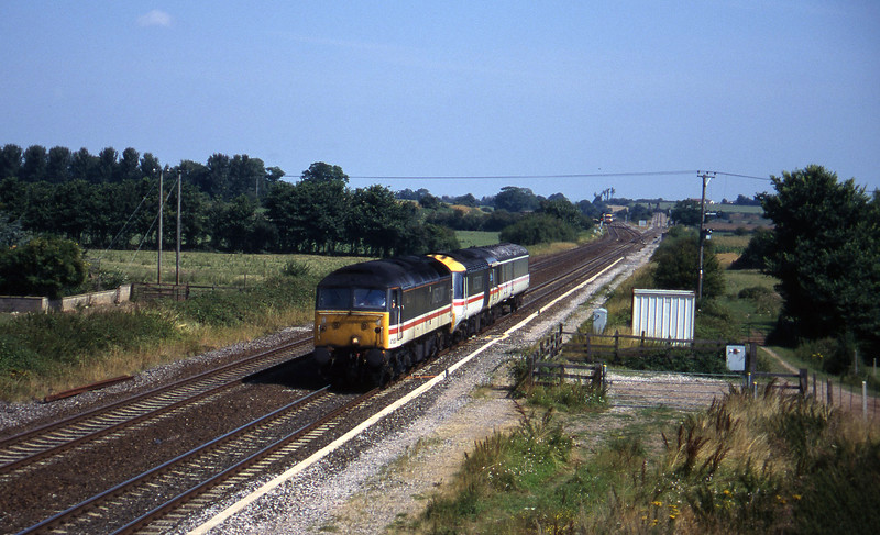 47830, down HST power car move, Cogload, 13-8-96.
