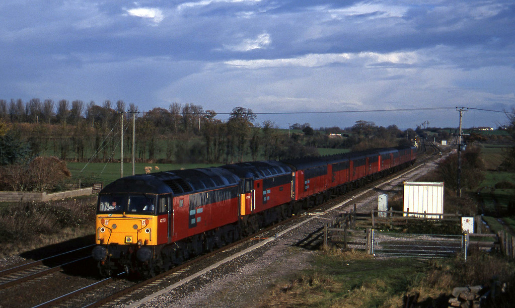 47759/47/7, 12.15 Bristol Temple Meads-Plymouth, Cogload, 4-12-96.