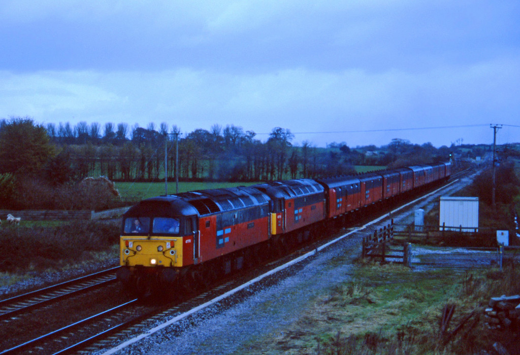 47778/47774, 12.15 Bristol Temple Meads-Plymouth, Cogload, 3-12-96.