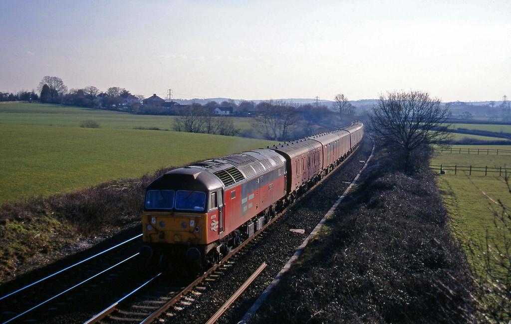47775, 13.53 Plymouth-Crewe, Willand, near Tiverton, 28-2-96.