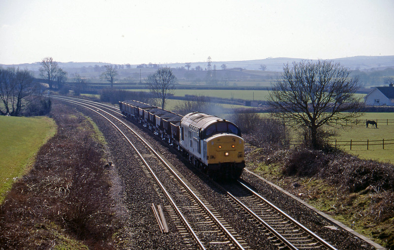 37890, up ballast, Willand, near Tiverton, 28-2-96.