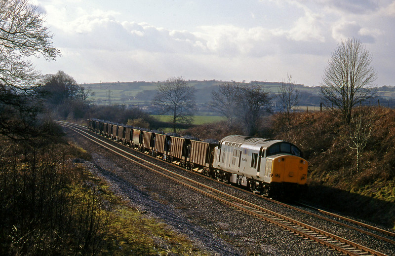 37709, up ballast, Whiteball, 21-2-96.