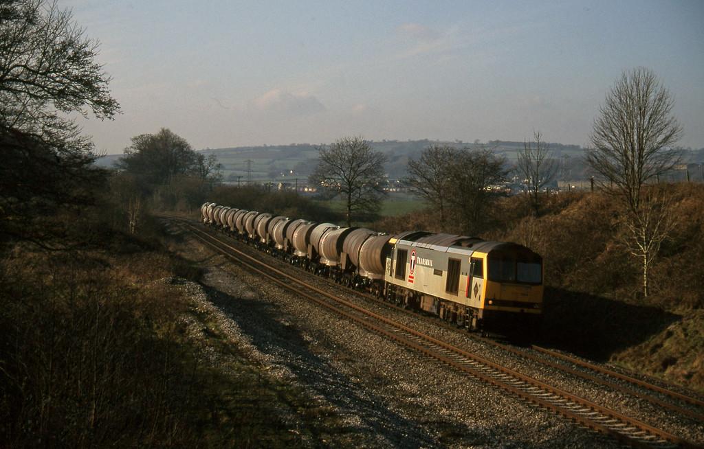 60034, 09.40 Burngullow-Newport Alexandra Dock Junction, Whiteball, 3-2-96.