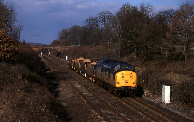 37229, down ballast, Willand, near Tiverton, 21-2-96.