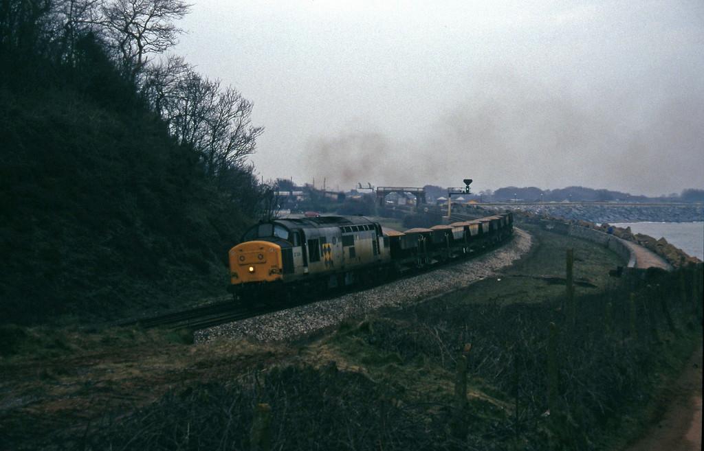 37229, down ballast, Dawlish Warren, 2-2-96.