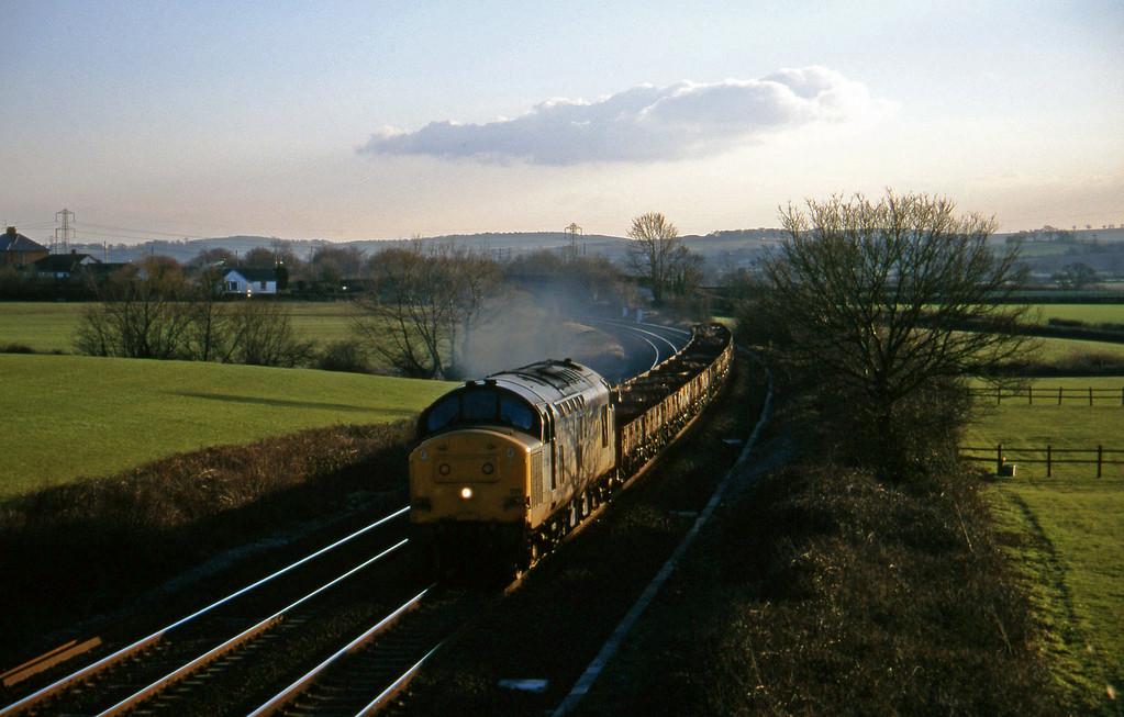 37229, up spoil, Willand, near Tiverton, 21-2-96.
