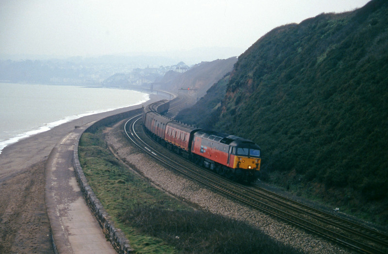 47707, 13.53 Plymouth-Crewe, Dawlish Warren, 2-2-96.