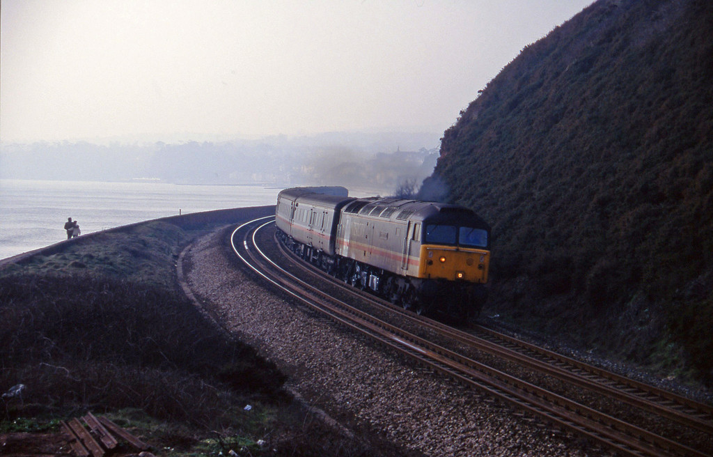 47825, 11.40 Plymouth-Liverpool Lime Street, Dawlish Warren, 2-2-96.