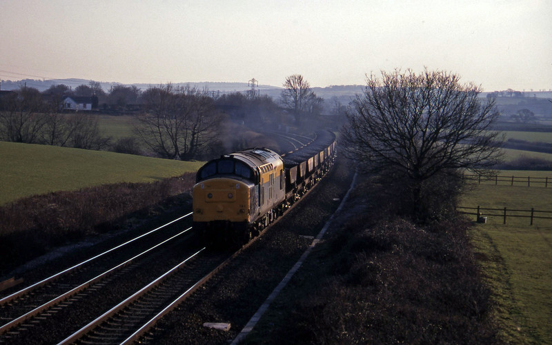 37141, up ballast, Willand, near Tiverton, 28-2-96.