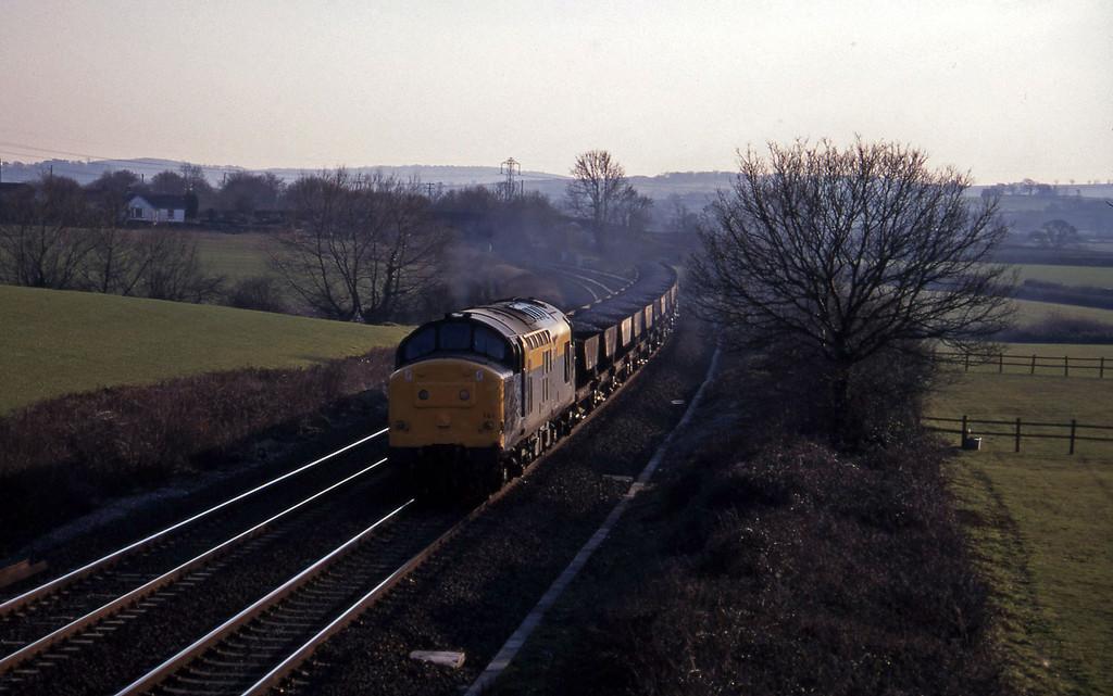 37141, up ballast, Willand, near Tiverton, 28-2-96.