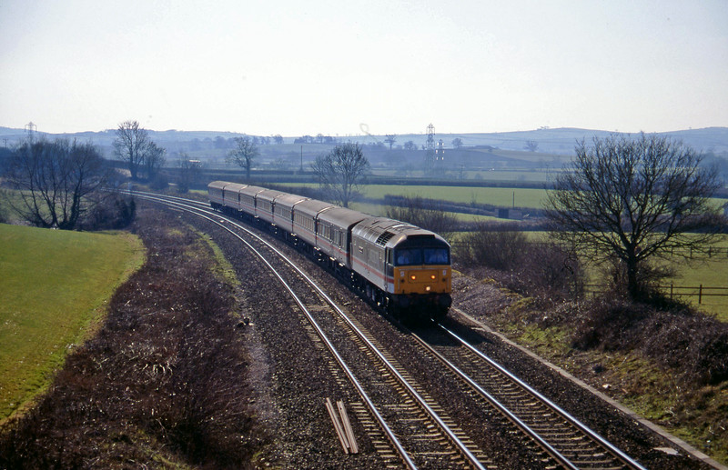 47840, 11.40 Plymouth-Liverpool Lime Street, Willand, near Tiverton, 28-2-96.
