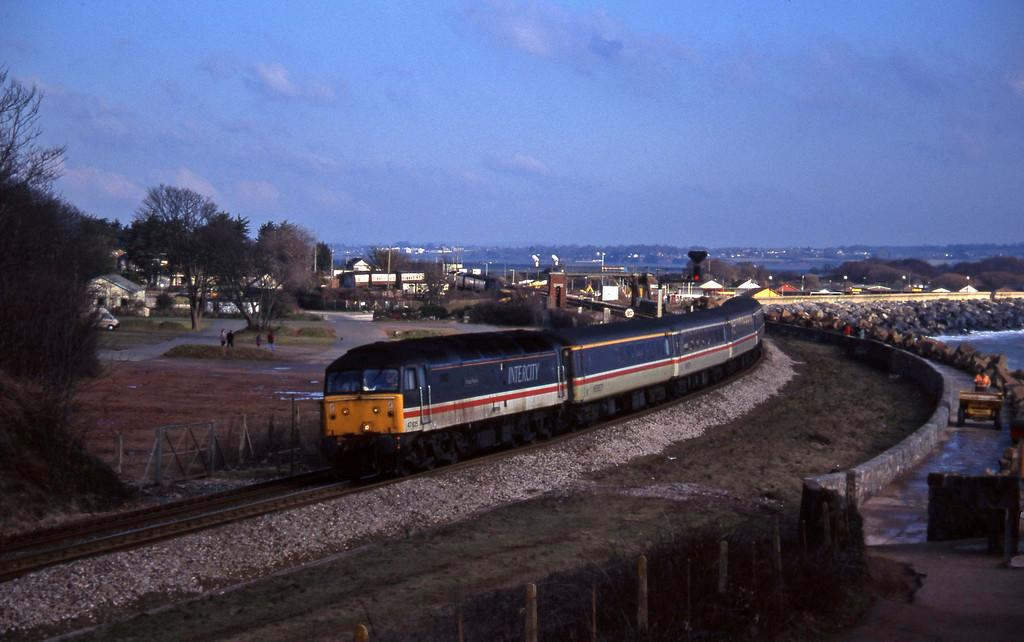 47825, 06.05 Derby-Plymouth, Dawlish Warren, 21-2-96.